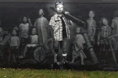 Leslieville st Mural for SIckkids hospital